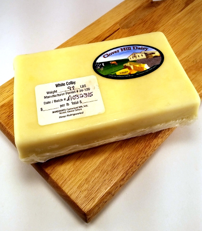 White Colby Cheese- Clover HIll Dairy